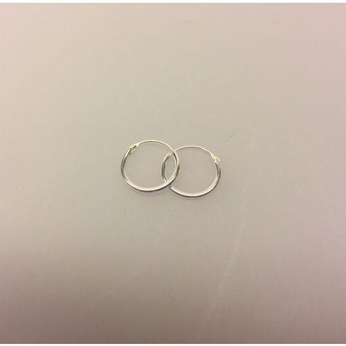 Creoler i sølv Ø 12 mm glatte hoops, Ø 12 mm Creoler sølv - glatte hoops, sølv øreringe, hoops, ørenringe, tynde, små, ægte, ægte sølv, sterling sølv, sterlingsølv, nikkelfri, billige, kvalitet, cool, smarte, klassiske, biti, ribe