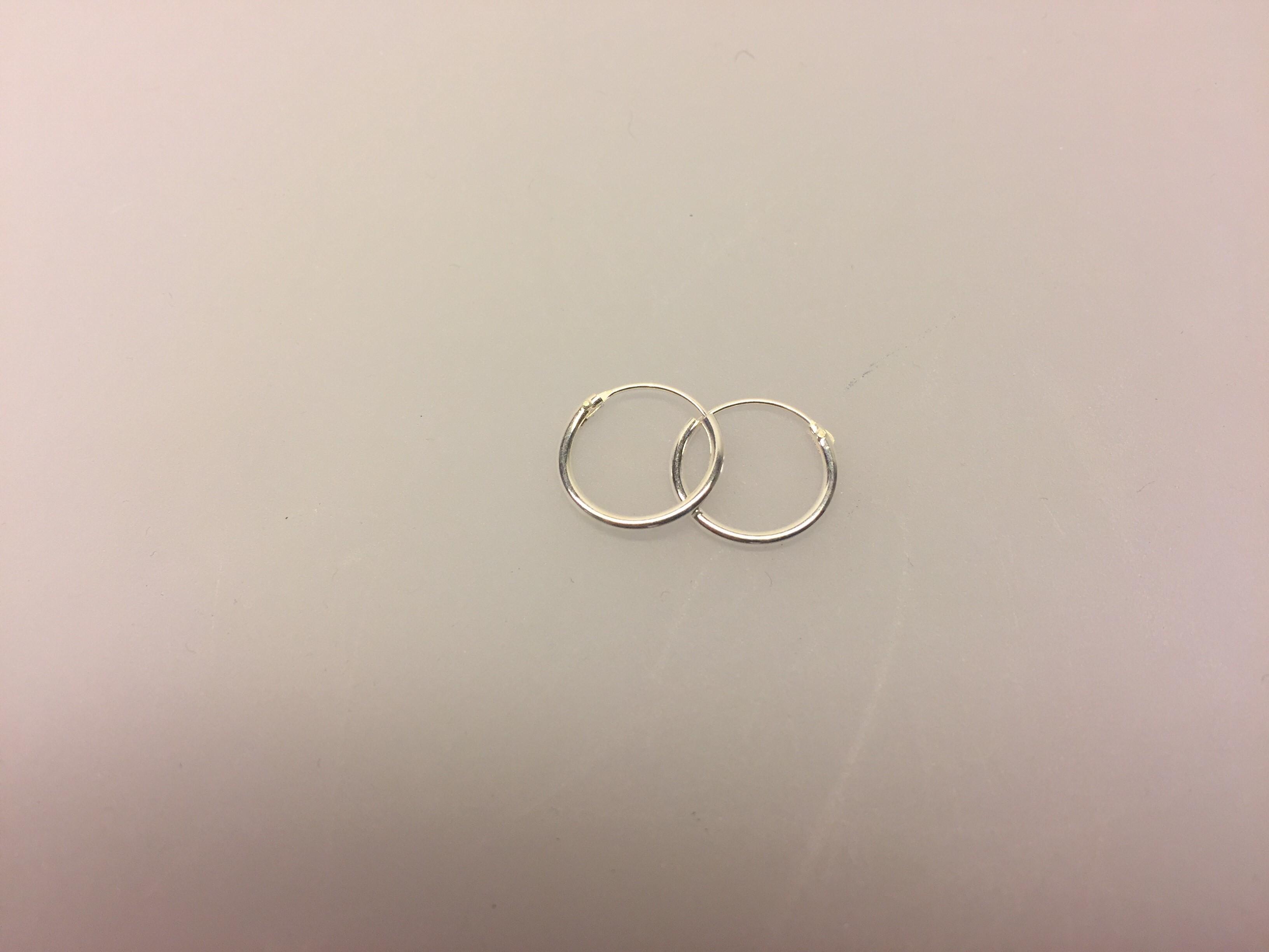 e48c71215a4 Ø 12 mm Creoler sølv - glatte hoops, sølv øreringe, hoops, ørenringe,