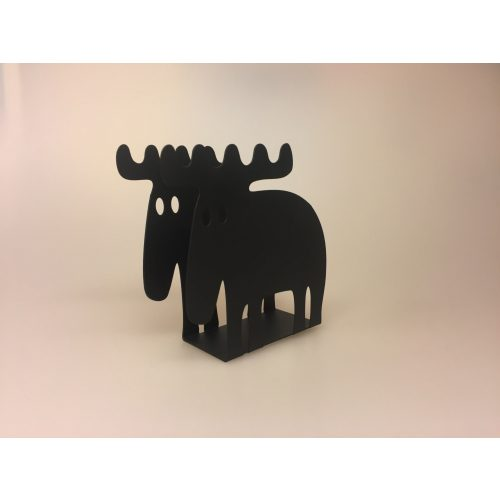 Servietholder metal - Elg sort, elgeservietholder, brevholder, brevordner, sort, metal, serviet holder, med elg, elgsdyr, moose, elk, elg, stilren, flot, kvalitet, nordisk, stil, svensk