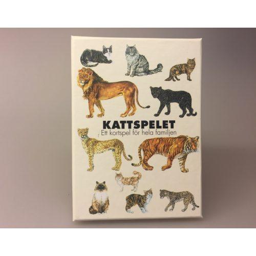 Kortspil - Katte, kattespil, kattefamilier, huskat, familiespil, spilleaftner, kat, ting med katte, catlover, løve, tiger, alt om katte, store kattedyr, fauna, faunaspil, biologi, natur, gaveide, specielle, svensk, sverige, tegninger, illustrationer