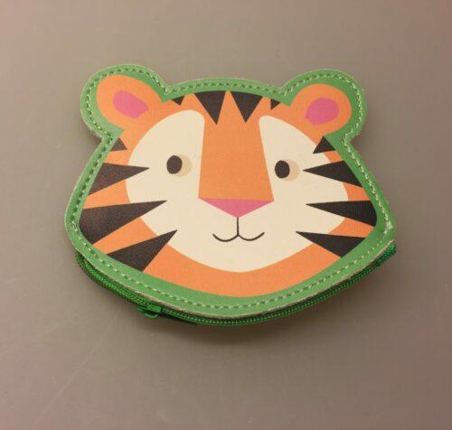 Pung til børn - Tiger, tigerpung, børnepung, portemonais, portemonet, pung til børn, tiger, sej, gaveide, drengepung, pigepung, til drenge, til piger, lommepenge, småpenge, møntpung, tony, the tiger, dyr, fin, gave, gaveide,
