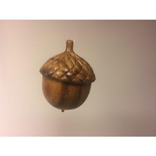 Agern - Håndskåret af Træ - lille, træagern, frugt, ege, egetræ, nød, nødder, håndlavet, træskærer, træsnit, håndarbejde, kunsthåndværk, ting af træ, nordisk, stil, natur, naturlig, pynt, indretning, indret med, naturlige materialer, julepynt, dekoration, specielt, brugskunst, flot, god stil, smagfuld, biti, ribe