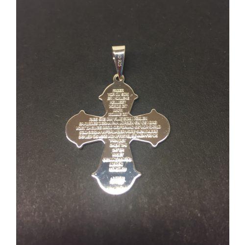 Vedhæng i sølv Dagmarkors med Fadervor, sølvkors, kristent, kristendom, konfirmation, dåb, barnedåb, dåbskors, dronning dagmar, dagmar, ribe,