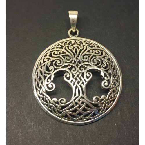 Vikingevedhæng i sølv - Livets træ Yggdrasil keltisk flet stor, sølv, ægte, sterling, sterlingsølv, livstræ, livets træ, ask, ygdrasil, yggdrasil, ygdrassil, vikinger, vikingetiden, vikingesmykker, sølvsmykke, vedhæng, sølvvedhæng, træ, museums, museumssmykker, kopi, vikingekopi, kopismykke, original, kraftigt, lækker, kvalitet, ribe, aser, nordisk, mytologi, gammel, tro, guder, asatro,