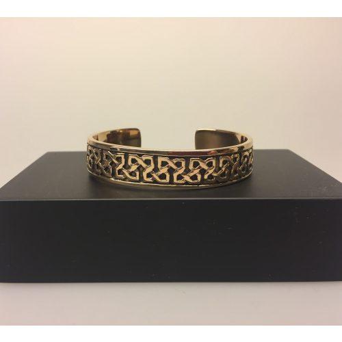 Armbånd bronze med keltisk evighedsflet ,Vikingearmbånd, vikingesmykker, fund, vikingefund, smykker, armring, herresmykke, herrearmbånd, til mænd, keltisk, flet, fletværk, uendelig, evig, museums, museumssmykker, biti, ribe