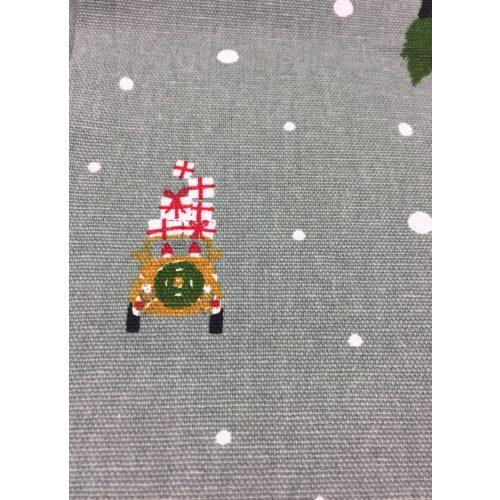 Forklæde i Bomuld med tryk - Unisex - Driving home for Christmas, forklæde, til mænd, til damer, unisex, juleforklæde, jul i køkkenet, jlebag, julebagning, driving home for christmas, bil med juletræ, flot, lækkert, kvalitet, julegave, julegaveide, biti, ribe, allport,