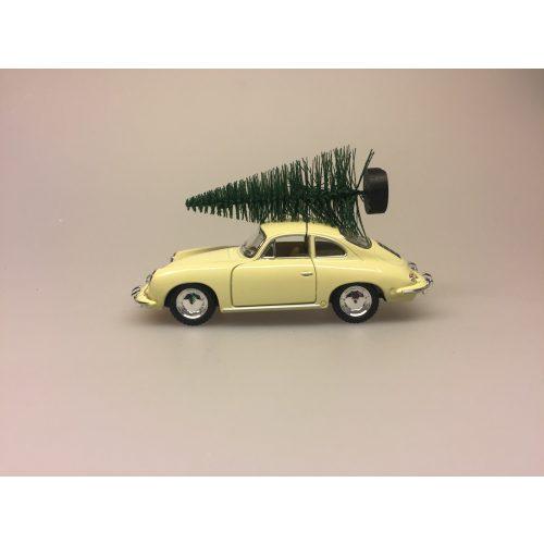 Modelbil Porche med juletræ creme, Modelbil Porche med juletræ rød, old timer, gamle biler, old school, bil, modelbil, rød, julebil, bil med juletræ, bil med juletræ på taget, bil med grantræ, moderne julepynt, julen 2019, sportsvogn, racerbil, veteran bil, veteranbil, lækker, luksus, samler på biler, cool, lækker kvalitet, skøn, sjov, flot, biti, ribe, veterantræf, hovedengen