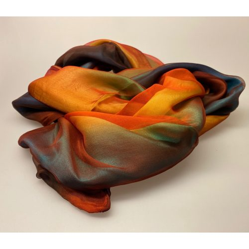 7627-55,Tørklæde 7627 - 3 lag silke Regnbue, multifarvet, regnbuefarvet, tredobbetl, 3-dobbelt, tre-lags, ren silke, ægte silke, silketørlæde, sjal, stola, fest, festtøj, eksklusivt, lækkert, kvalitet, specielt, smukt, biti, ribe, senas, kinesisk, 100%, ædelt, naturmateriale, flot, alle farver