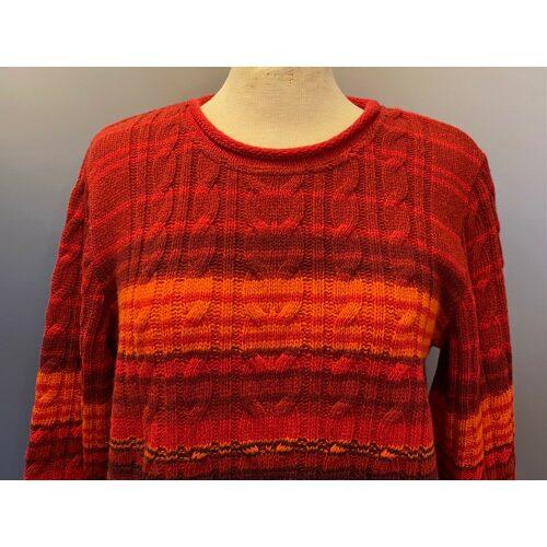 Dunque Pullover Uld Stribet Rød, Dunque Pullover stribet uld rød/aubergine, rød, røde toner, stribet, striber, pullover, striktrøje, strik, damestrik, uldtrøje, ulden, uldstrik, lambswool, blød, kvalitet, klædelig, lækker, flot, sommerstrik, sweater, let, lun, trøje, bluse, dunque, speciel, farver, farverig, varme farver, biti, ribe, vadehavet, nationalpark, marsken, får, lammeuld,