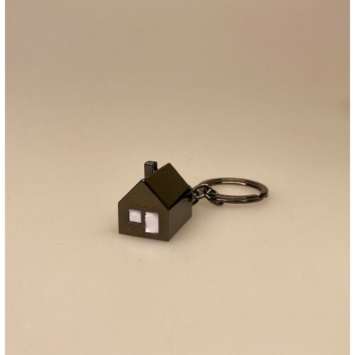 Nøglering med Hus med LED-lys , der kan lyse, med lys, hus, husnøgle, nyt hus, ny bolig, roomie, gave, gaveide, flytte hjemmefra, flytte ind, indflyttergave, tillykke, biti, ribe, lækker, flot, klassisk, eksklusiv, kvalitet, LED, batteri, lygte, lys i mørket, finde vej, vejviser,