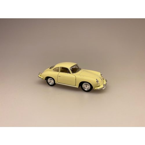 Metal Modelbil Porche - creme , flødefarvet, cremefarvet, modelbil, racerbil, luksusbil, gaveide, kørekort, ny bil, symbolsk, metalbil, flot, elegant, legetøjsbil, biti, ribe,