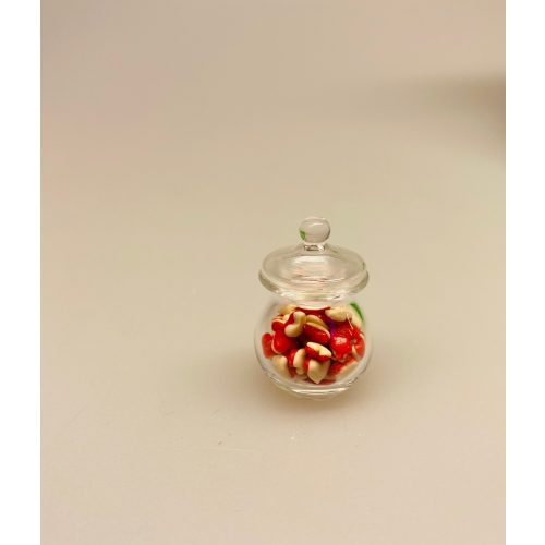 Miniature Glas med Hjerteslik,