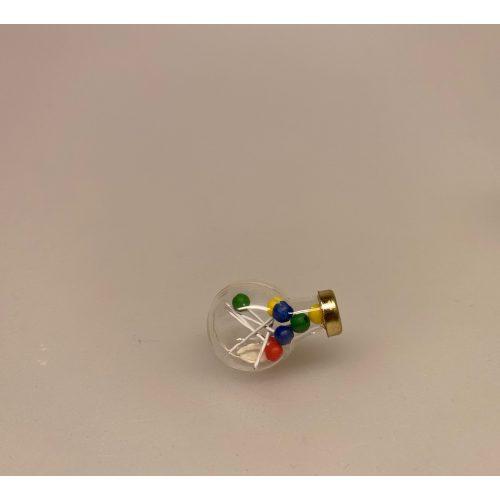 Miniature Glas med Slikkepinde, Miniature Rund Slikkepind ,Miniature Bolchestok, slik, dukkehus, dukkehuset, sættekasseting, sætterkasseting, ting til, dukkehuset, sættekassen, miniatyre, miniaturere, mini, skala 1:12, købmandsbutik, legemad, legeslik, julepynt, nissetilbehør, nissebo, nisserne, nissedør, gaveide, sangskjuler, sød tand, sliksulten, pyrus,