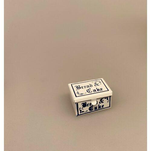 Miniature Brødkasse, brødbox, brødboks, bagværk, kasse, dukkehus