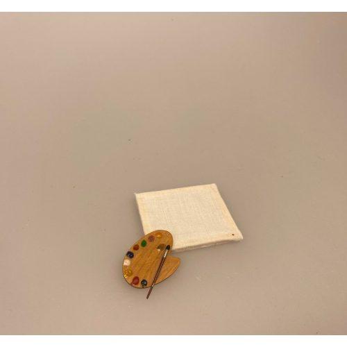 maler, Miniature Lærred umalet, malerlærred, Miniature Træ Palette ,Miniature Trækasse med malertuber, oliemaling, akrylmaling, maler, kunstmaler, kunstner, artikler, hobby, maling, mini, krea, kreativ,
