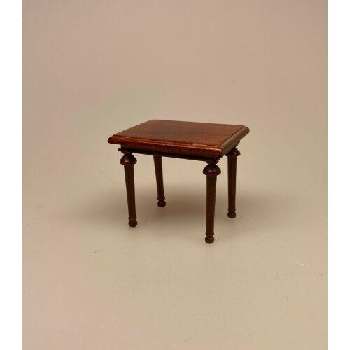 Miniature Sidebord i Valnød , lille, sidebord, lampebord, træbord, dukkehus, dukkehusmøbler, dukkehusting, dukkehustilbehør, dukkehuset, dukkestue, dukkemøbler, biti, ribe
