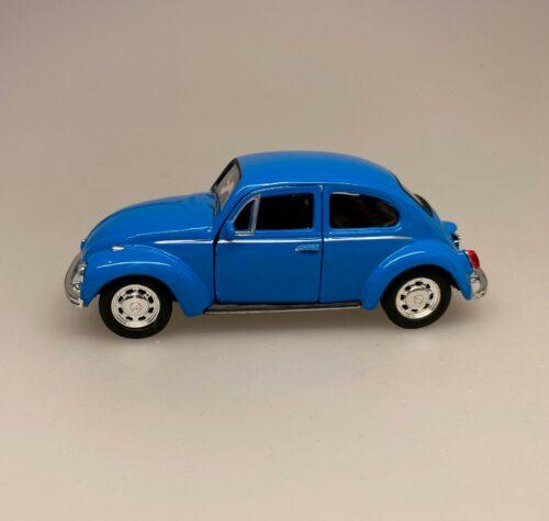 VW Folkevogn Bobbel Classic - Blå, Bil metal VW - Folkevogn Bobbel - Classic Blå, volkswagen, VW, folkevogn, nedgroet negl, asfaltboble, asfaltbobbel, klassisk, folkevogn, folkevognsbobbel, folkevognsboble, bobbel, bobble, boble, blå, klar blå, modelbil, model, kopi, samlere, biti, ribe