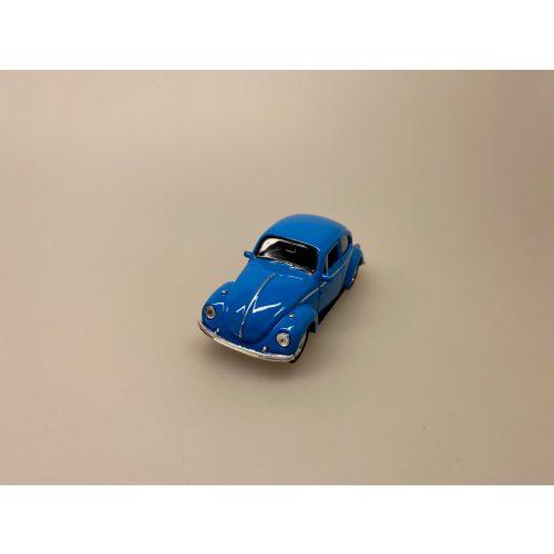 Bil metal VW - Folkevogn Bobbel - Classic Blå, volkswagen, VW, folkevogn, nedgroet negl, asfaltboble, asfaltbobbel, klassisk, folkevogn, folkevognsbobbel, folkevognsboble, bobbel, bobble, boble, blå, klar blå, modelbil, model, kopi, samlere, biti, ribe