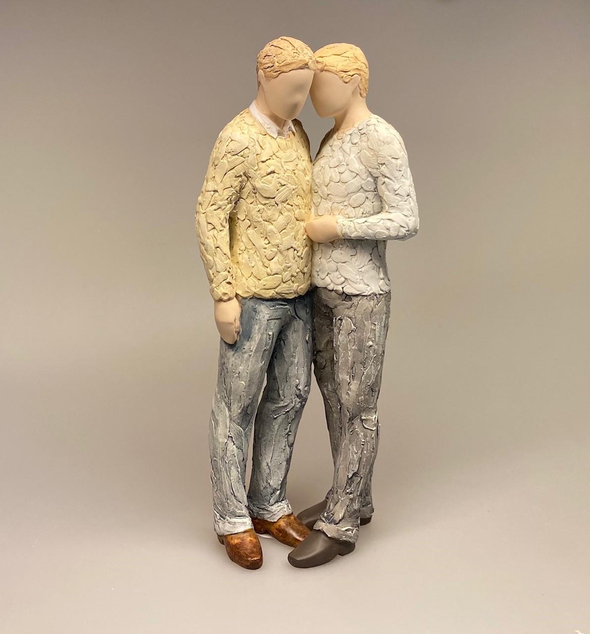 More than words figur - Devoted, kærester, homo, homobryllup, bøsser, bøssepar, bøssevielse, bryllup, brødre, bedste venner, kammerater, bedste ven, min bror, brormand, bro, guys, figur, speciel, kunst, kærlighed, hengivenhed, symbolsk, symbolik, gaveide, gave, bryllupsgave, registreret, biti, ribe, arora, willowtree