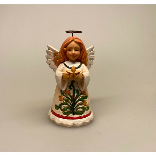 Jim Shore Heartwood creek - Engel med stjerne, jim shore, samlefigur, samleobjekt, engel, englefigure, englefigurer, engelfigur, juleengel, glorie, skytsengle, passer på dig, våger over, omsorg, beskyttelse, amulet, kærlighed, kærlige tanker, gaveide, budskab, biti, ribe