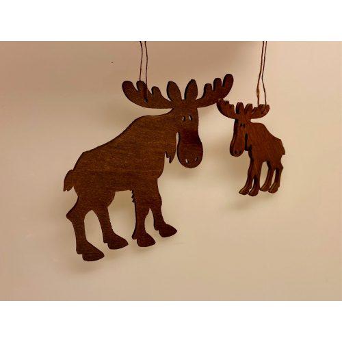 Ophæng - Elg brun lille, svensk, svensk pynt, jul, julepynt, elsdyr, elg, elge, elgeophæng, elgophæng, ting med elge, biti, ribe,