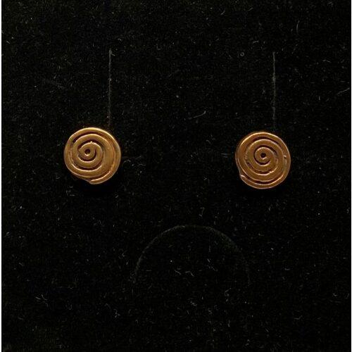 Bronze ørestikkere - Spiraler, snegle, runde, studs, plader, bronzesmykker, bronze, ørestikkere, ørestikker, øreringe, gyldne,