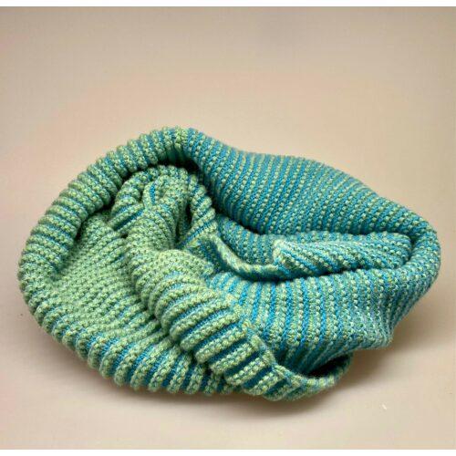 Eribe Strikket Tube Tørklæde uld Lysegrøn , tubetørklæde, koop, halsedisse, tubestrik, hætte, rundstrikket, halstørklæde, poncho, stola, smart, blødt, turkis, grønt, grønne farver, specielt, lækkert, kvalitet, biti, ribe, anvendeligt, smart