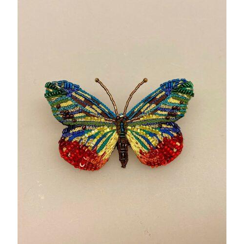 Håndlavet Broche Regnbue sommerfugl, kulørt, alle verdens farver, verden er i farver nu, det bliver godt igen, rainbow, pride, lille somerfugl, Håndlavet Broche Kulørt sommerfugl, farverig, regnbuefarvet, kulørt, farveglad, Håndlavet Broche Blå sommerfugl, sommerfuglebroche, smykker med, smykke med, sommerfugle, eksklusive smykker, specielle, særligt, håndlavey, kunst, kunsthåndværk, broche, naturen, insekter, gaveide, gave, særlig gave, ekstraordinær, smuk, smykker, biti, ribe, unika, one of a kind, limited edition, begrænset oplag, kunstrunden, ribe, vadehavet, nationalpark,