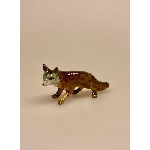 Ræv Figur porcelæn, porcelænsdyr, dyr, ræv, porcelænsræv, sætterkasse, sættekasse, figur, figurer, figure, dyr af porcelæn, skovens dyr, stilleben, skovtema, biti, ribe