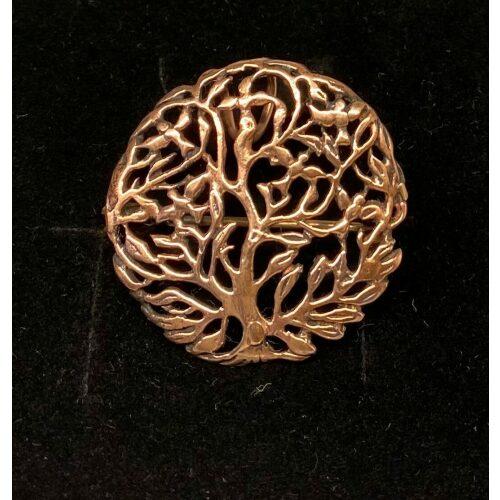 Bronze Broche Yggdrasil Livets Træ, ygdrasil, ygdrassil, ask, livstræet, livets træ, rund, træ, livets gang, aser, evigt liv, asgård, nordisk, mytologi, nordiske, guder, vikingesmykke, vikinger, bronze, smykke, broche, gaveide, konfirmation, ribe, biti, fund, skat, udgravninger, vadehavet, ældste, original, ægte, gylden, stor, feminin, elegant, bryllup,