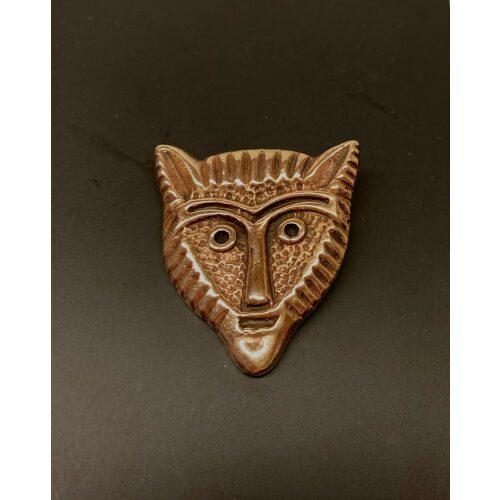Bronze Vikingevedhæng - Fenris Ulvehoved Fladt, Bronze Vikingevedhæng - Fenris Ulvehoved, ulv, ulvehoved, fenris, fenrisulven, loke, asgård, aser, nordiske, guder, museumssmykker, museums, mytologi, myter, mytisk, dyr, smykke, vedhæng, bronze, gylden, vikingesmykker, biti, ribe, fund, specielt, flot, tungt, gedigent