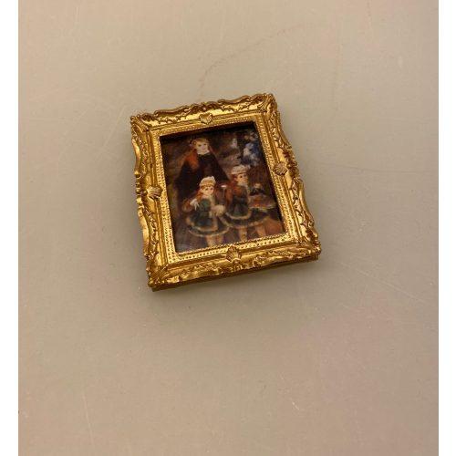 Miniature Maleri Renoir 3 piger, Renoir, maleri, miniature, billede, dukkehuset, dukkehusmaleri, dukkehuset, pynt, dekoration, kunst, kunst, kunstmaler, billedkunst, oliemaleri, lille, sætterkasse, symbolsk, gave, gaveide, biti, ribe, louvre, paris, kunstinteresseret, kunsthandler, fransk, frankrig, frankofil, kunstmuseum,, galleri