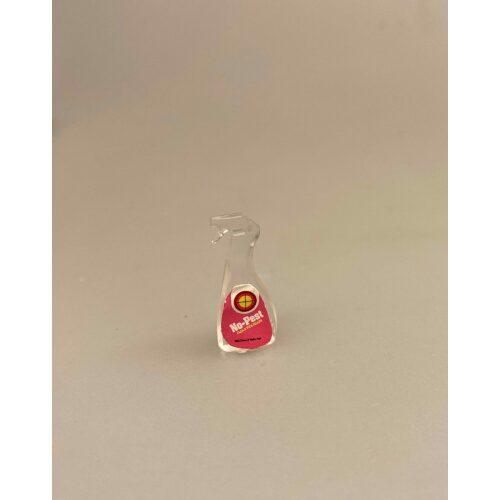Miniature Glasspray No Pest, vinduesrens, vinduesspray, glasspray, kalkfjerner, rengøring, miniature, dukkehus, 1:12, sangskjuler, gavekort, sjov, rengøringshjælp, rengøringsfirma, biti, ribe