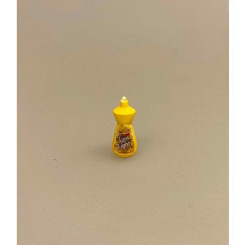 Miniature Opvaskemiddel Sun Light, opvask, dukkehus, miniature, rengøring, købmand, købmandsvarer, 1:12, biti, ribe