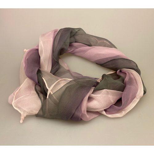 Silkechiffon Tørklæde 1158 - Grå/Syren/Rosa, 1158-099, 1158-99, silketørklæde, silkechiffon, kvalitet, let, eksklusivt, lækkert, gaveide, mors dag, fødselsdag, luksus, smukt, let, lunt, elegant, ren silke, 100%, biti, ribe