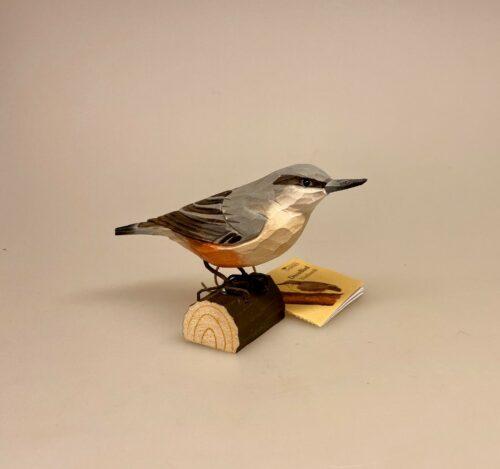 Naturens fugle af træ - Spætmejse, dyreliv, fauna, fugleliv, fugle i farver, ornitolog, træfugl, naturtro, håndlavet, flot, kigger på fugle, gaveide, flot, biti, ribe, danske,