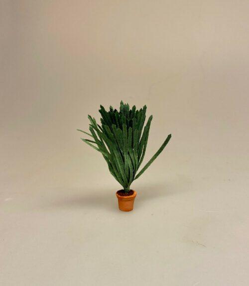 Miniature grøn plante - svigermors skarpe tunge, 3878, Miniature 7732, miniature, miniaturer, mini, drivhus, væksthus, have, havearbejde, haveliv, symbolsk, gave, gaveide, planteskole, dukkestue, dukkehus, ting til, tilbehør, nisser, nisse, nissedør, gartner, havemand, biti, ribe, 1:12