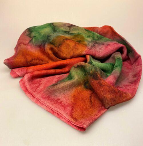 Tørklæde Let Vævet uld - Djian Koloreret Rosa/Teglrød/Oliven, 1731-A, Tørklæde Let Vævet uld - Djian, Tørklæde Let , ren, natur, naturlige, materialer, uld, blødt, blød, kradser ikke, lunt, elegant, lækkert, super, kvalitet, soft, silke, uld-silke, luksus, sjal, stola, fest, tilbehør, over skuldrene, kjole, dansk, design, gave, gaveide, fødselsdag, biti, ribe