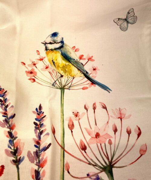 Forklæde i Bomuld med tryk - Vilde Blomster og fugle, Viskestykke Bomuld med Vilde Blomster og Fugle , Grillhandske bomuld med Blåmejse og blomster, flora, vilde blomster, grøftekantsblomster, sommerhus, feminin, feminint, Grillhandske - bomuld med tryk, køkken, køkken tekstiler, grillvante, grillhandske, grydelap, varme ting, fugle, naturens fugle, oinitolog, jeg kigger på fugle, ting med fugle, danske fugle, fugle i farver, fauna, natur, flot, biti, ribe, vadehAVET, SORT SOL,