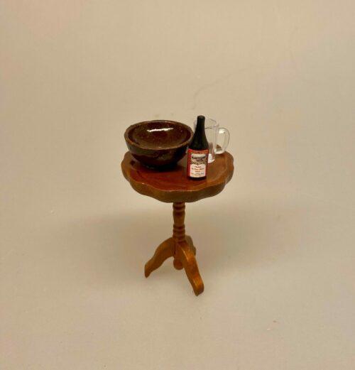 Miniature Keramik Grødfad Mørkebrunt, dejfad, dejskål, bageskål, keramikskål, keramik, mini, mikro, 1:12, nisser, nissetilbehør, nisseting, dukkemad, nissedør, ting til, tilbehør dukkehus, miniaturer, sætterkasse, sættekasse, sangskjuler, julekalender, pakkekalender, jul, biti, ribe
